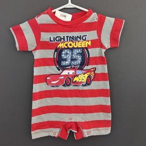 NWT Disney Lightning McQueen striped one piece